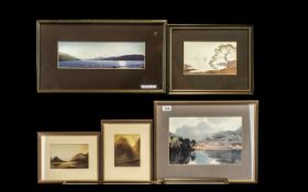 Heaton Cooper: Five Framed Prints of Various Views in the Lake District by Heaton Cooper 1903-1995.