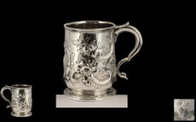 George lst - Important and Early Britannia Wonderful Silver Tankard,