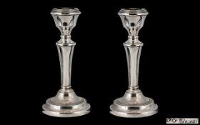 Elizabeth II Pair of Silver Candlesticks