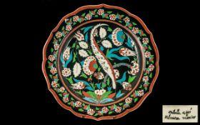 A Fine Large Kutahya Turkish Glazed Pott