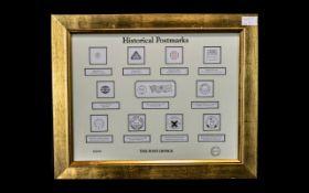 Stamp Interest - Framed Historical Postm