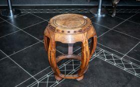 Antique Chinese Barrel Stool of fine qua
