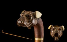 Victorian Period Superb Quality Walking Stick.