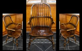 Reproduction Elm Distressed Thames Valley Type Windsor Chair,