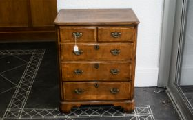 Walnut Hi-Fi Cabinet in the form of a Georgian Style chest of drawers.