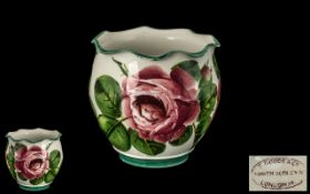 Wemyss Cabbage Rose Design - Small Pot, with Frilled Edge / Border,