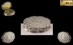 A Superb Silver Vinaigrette by Nathaniel Mills. Hallmark for Birmingham 1846.