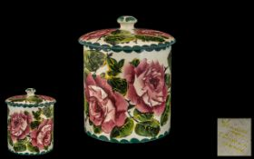 Weymss Lidded Preserve Jar 'Cabbage Roses' Pattern,