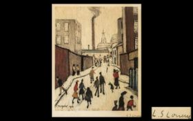 LAURENCE STEPHEN LOWRY RA (1887-1976) Artist Signed Limited Edition Colour Lithograph Print 'A