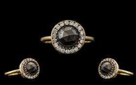 18ct Yellow Gold - Attractive Diamond Set Cluster Ring. Full Hallmark for 750.