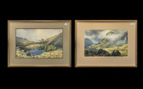 A Fine Pair of Watercolour Drawings by J. Ingham Riley, of the Lake District. Entitled Above -