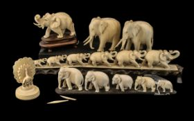 Collection of Antique Oriental Ivory Figures,