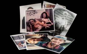 A Collection of British Film / Television Artists Signed 8 x 10 Inches Photos ( 12 ) In Total.