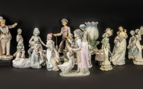 Large Collection of Ceramic & Porcelain Figures,