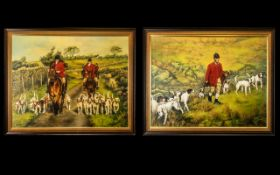 Pair of Modern British Oil Paintings on Canvas by Susan Macgarry, dated 1986.