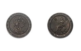 George III Cartwheel Two Pence - Date 1797, Good Grade - Please Confirm with Photo.