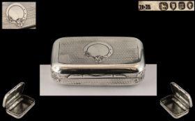Victorian Period Combined Silver Vesta Snuff Box. Hallmark for London 1867, Makers Mark for B.