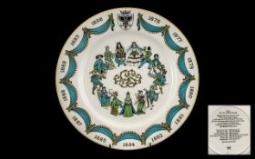 The D'Oyly Carte Plate 1975 Centenary Year of the first opera Trial by Jury of the collaboration