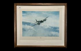 Aircraft Interest - Edmunds War Plane Limited Edition Signed Print 'Mosquito' by Robert Taylor,