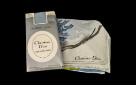 "Christian Dior Vintage Crepe de Chine Silk Scarf, 28"" x 29."