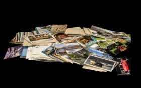 A Large Collection of Modern Day Photographic Postcards mainly scenic views. Together with an