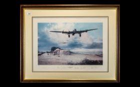 Aircraft Interest - Edmunds War Plane Limited Edition Signed Print 'Last Flight Home' by Robert