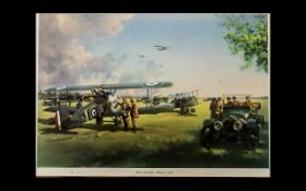 Aircraft Interest - Edmunds War Plane Limited Edition Signed Print 'April Morning 1918' by Peter