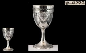 Walter and Edward Barnard Superb Quality - Large / Heavy Sterling Silver Chalice,