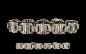 18ct White Gold Superb Diamond Set Brace