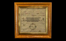 George III Needlework Sampler Alphabet &
