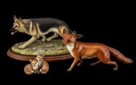 Beautiful Beswick England Fox Figurine -