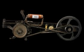 Rare Singer Iron Carpet Stitching Machin