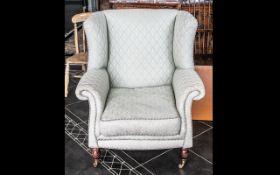 Modern Laura Ashley Style Wing Armchair