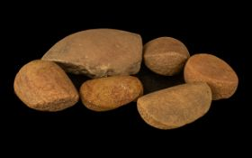 Five Stone Age Grinding Stones used on c