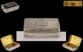 William IV Exquisite Silver Snuff Box by