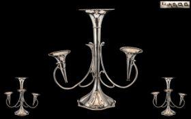 Art Nouveau Large and Impressive Sterlin