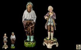 Small Antique Royal Bohemia Pottery Figu