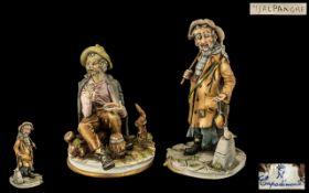 Capo-di-Monte Pair of Handmade & Signed