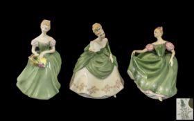 """Three Royal Doulton Figures comprising 'Sandra' HN2275 8"""" tall; 'Clarissa' HN23458"""" tall;"""
