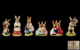 Collection of Royal Doulton 'Bunnykins' China comprising: 1/ ' Storytime ' Buunykins DB9.