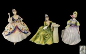 Three Royal Doulton Figures comprising: 'Secret Thoughts' HN 2382, height 7.