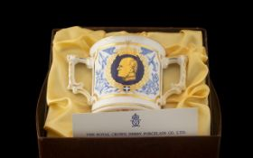 Royal Crown Derby Loving Cup to celebrate the 60th birthday of The Duke of Edinburgh 10th June