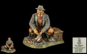 Royal Doulton Hand Painted Figure ' Bon - Appetite ' ( Matte ) HN2444. Designer M. Nicol.