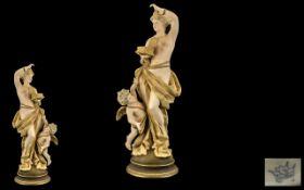 Ernst Wahliss - Austria Superb Quality Hand Painted Porcelain Figure 1897 - 1906.