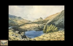 A Fine Pair of Watercolour Drawings by J. Ingham Riley, of the Lake District.