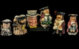 Collection of Various Character Jugs ( 6 ) In Total.