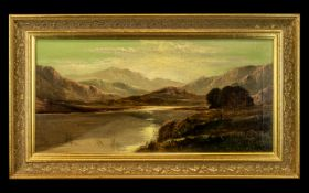 Charles Leslie Royal Academy Artist 1839 - 1886 - Titled ' Hawes Water ' Lake District Oil on
