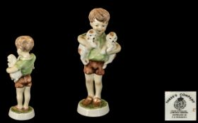 Royal Worcester Hand Painted Porcelain Figure ' Worcester Children ' Threes Company. RW.4158.
