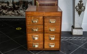 Haberdashery Shop Fitting with 8 drawers with large brass handle pulls. Circa 1950s.