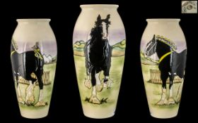 Moorcroft Large Limited and Numbered Edition Celebration Vase, 'Champion Shire Horse, Loch Anna',